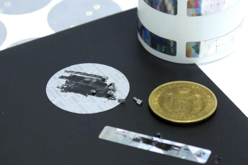 scratch hologram