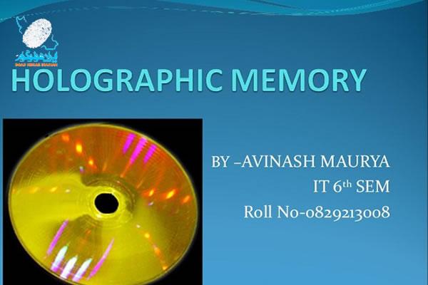اجزای ذخیره سازی هولوگرافیک